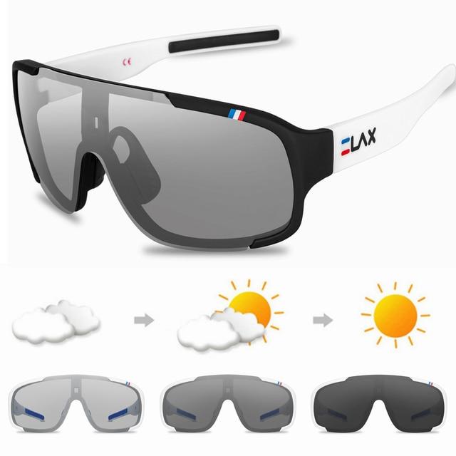 Elax polarizado e photochromic ciclismo óculos de ciclismo ao ar livre óculos de sol esportes das mulheres dos homens mtb bicicleta 5