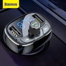 Baseus Fm-zender Bluetooth Handsfree Car Kit Audio MP3 Speler Met 3.4A Dual Usb Car Charger Fm Modulator