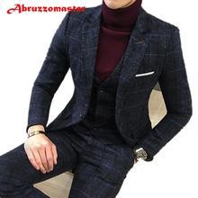 4 цвета, клетчатый костюм, пиджак в клетку, смокинг жениха, костюм жениха, костюм жениха на заказ, мужской твидовый костюм(пиджак+ брюки+ жилет
