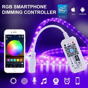 цена на Smart Home WiFi Controller LED Strip144W RGB Color Changing Adjust Brightness APP Remote Control Works With Alexa Google Home