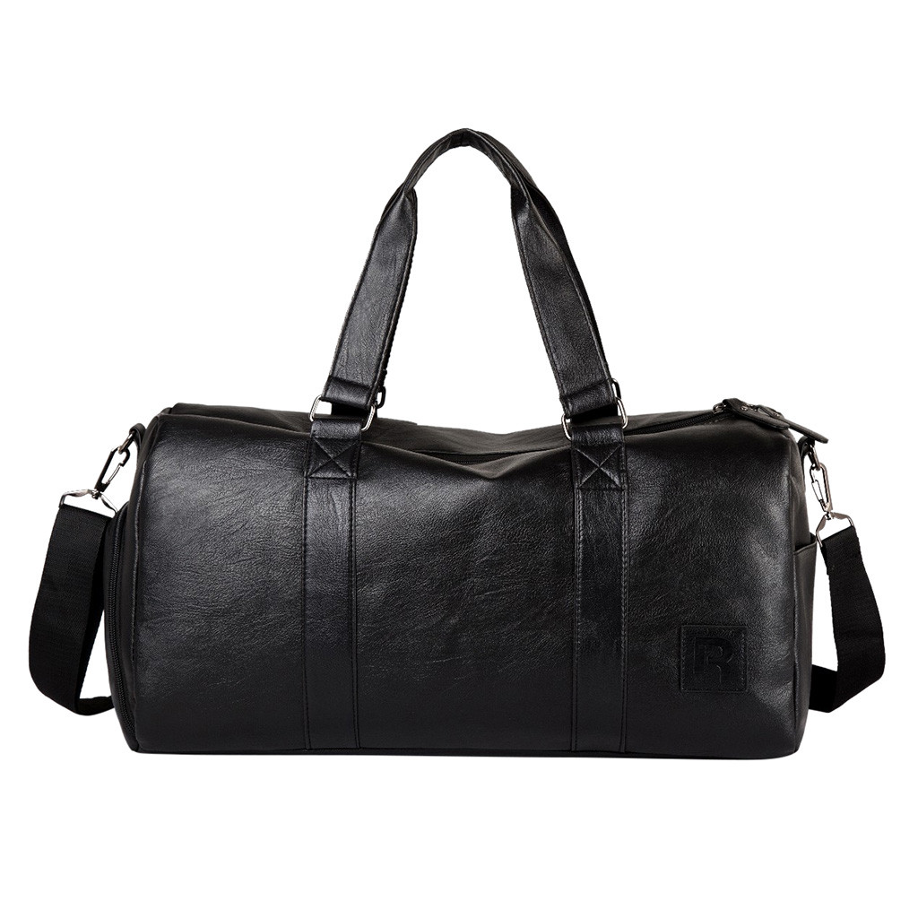 Leather Duffle Bag Gym Bag With Shoes Handbags For Men Travel Duffel Bag Portable Shoulder Bags Men's Fashion Carry On Bag