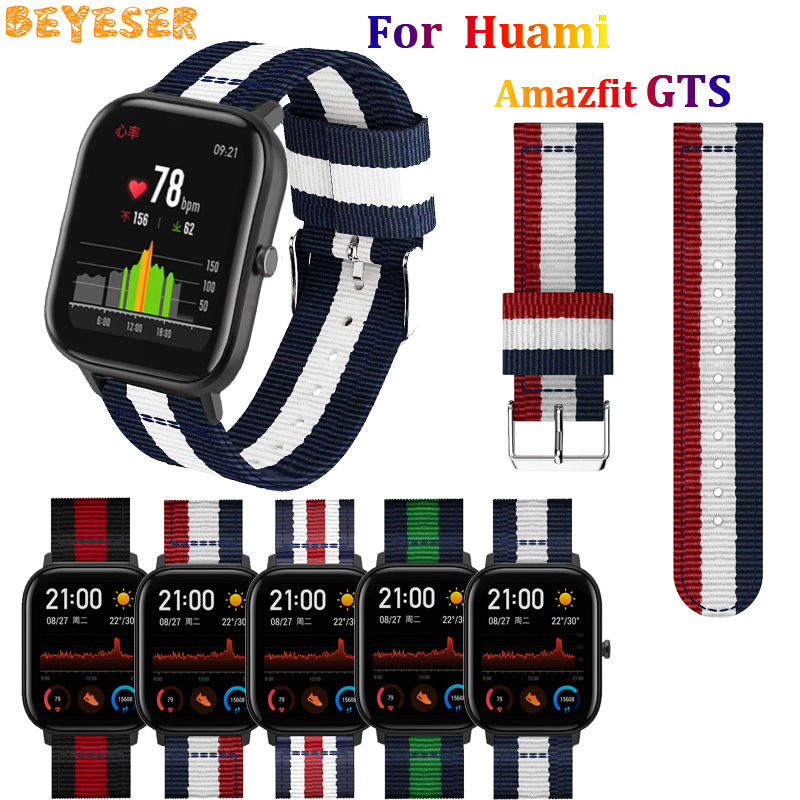 For Xiaomi Huami Amazfit Bip BIT PACE Lite Youth sport Nylon watch strap bracelet For Huami Amazfit GTS wrist band breathable