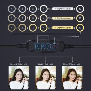 Image 4 - LED anneau lumière 12/16 cm 3 Modes de couleur anneau lampe à Led avec trépied pour YouTube maquillage Selfie Photo Studio photographie ringlight