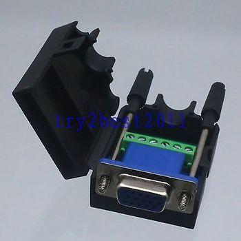 DHL/EMS 20 комплектов Разъем DB15 6-контактный разъем pin 3 + 2 линии Termina PCB пластиковый винт крышки B-C1