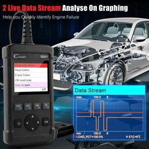 Image 4 - LAUNCH OBD2 Automotive Scanner CR5001 OBD Auto Strumento Diagnostico DEL LANCIO X431 OBD2 Motore Del Lettore di Codice Multi Lingua Aggiornamento Gratuito