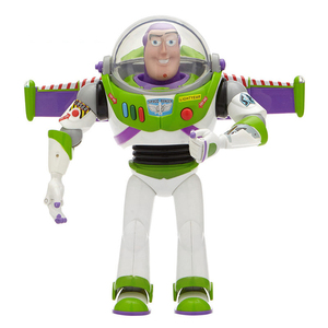 Image 2 - 43cm Toy Story 4 Buzz Lightyear Toy Story Talking Lights Speak English Joint Movable Action Figure Anime Collectible Doll