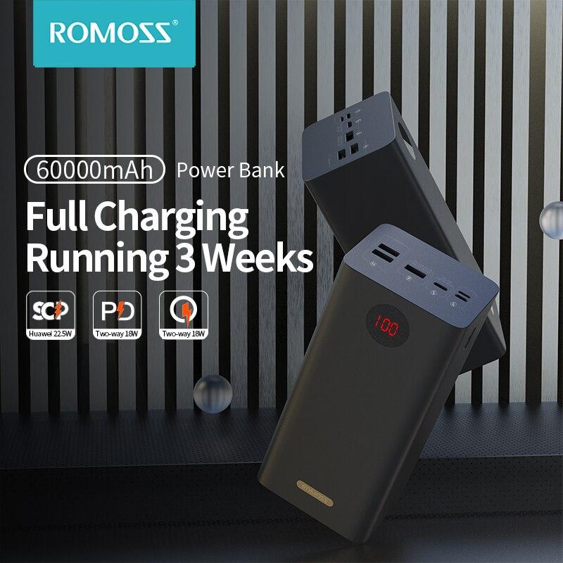Пауэрбанк ROMOSS PEA60, 60000 мА ч, SCP PD QC 3,0, 60000 мА · ч|Внешние аккумуляторы| | АлиЭкспресс - Топ товаров на Али в мае