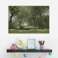 Holover西洋美術装飾ポスターのキャンバス油絵ジャン · バティスト · カミーユ · コロー