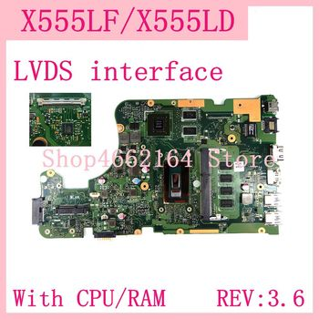 Материнская плата X555LF LVDS для ноутбука, плата 4 Гб ОЗУ, REV: 3,6 GT930M/2G, для ASUS X555L, A555L, K555L, F555L, W519L, X555LD, X555LF