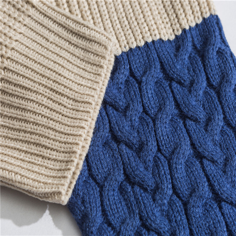 ICPANS Kintted Women Men Pullovers Sweater O Neck Pacthwork Stripe 2019 Winter Autumn Kintting Pullovers Men
