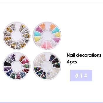 10Pcs/Set Nail Art Tool Set Manicure Buffers Glitter Nail Brush Dotting Pen Line Stickers Decorations Kit Artificial for DIY 5