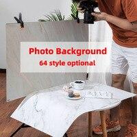 Fondo fotográfico de grano de madera y mármol para estudio de fotografía, fondo fotográfico de doble cara con superficie de patrón, impermeable, 5x7cm