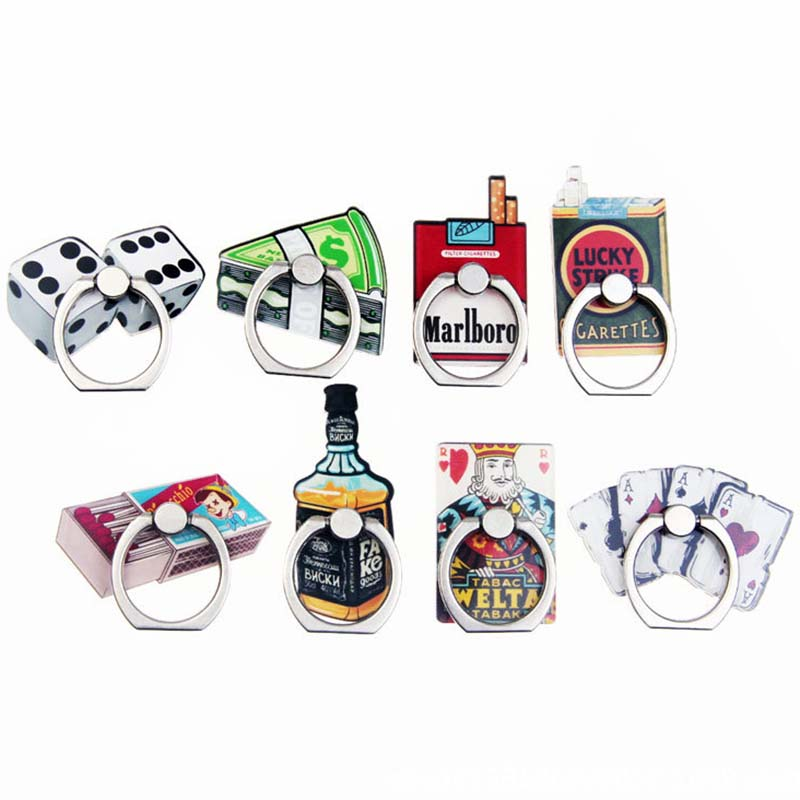 8 Styles Cute Retro Phone Holder Ring Mobile Phone Stand Dice & Match Finger Phone Ring Holder Support Celular