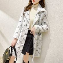 No Lint 2021 Autumn and Winter New Coat Mink-like Wool Mid-Length Coat Korean Style Heavy Industry Knitted Coat Sweater