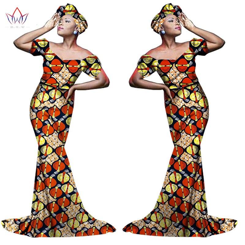Африканский хлопчатобумажный материал Платья Для Женщин Дашики традиционная Анкара Мода Африка одежда с коротким рукавом Анкара платья WY963 - Цвет: 6