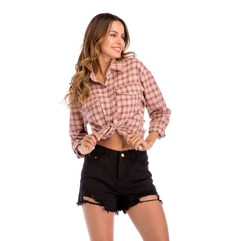 Spring Winter Palid Shirt for Women