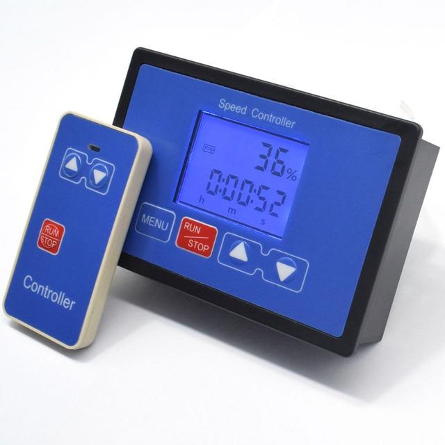 LCD Smart Digital Display 0~100% Tachometer adjustable 30A PWM DC Motor Speed Controller Timing Remote control 12V 24V 36V 48V