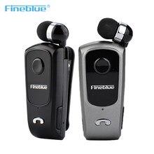 Fineblue f920 sem fio bluetooth fone de ouvido retrátil handsfree fone estéreo lembrar esportes correndo usar clipe fone de ouvido para o telefone