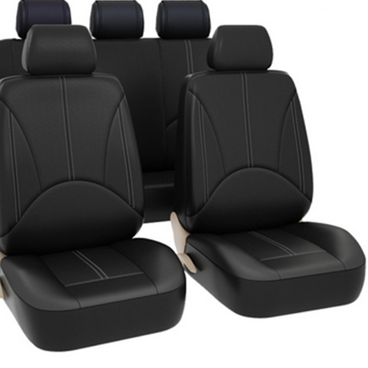 Back Seat Cover Head Rest Car Universal Wear resistant Dirt resistant Black