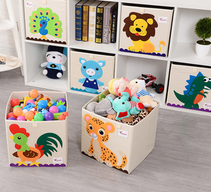 Cute Linen Desktop Storage Box Waterproof Toy Sundries Storage Basket Cosmetic Underware Storage Organizer Office Basket