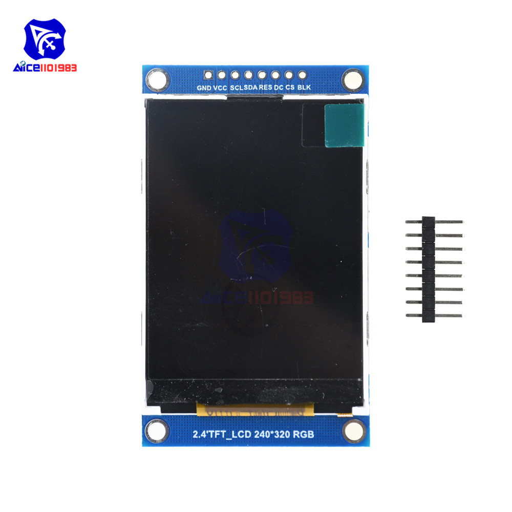 diymore 2.4inch TFT LCD Display Screen Module SPI Serial Interface ILI9341 Driver 240x320 LCD Board for Arduino 3.3V