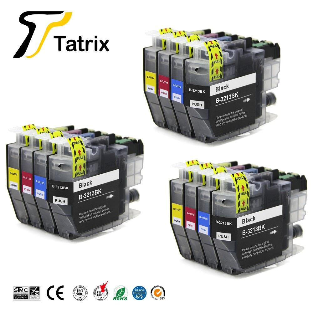 Совместимый чернильный картридж Tatrix для Brother 3213XL LC3213, подходит для Brother DCP-J772DW,DCP-J774DW,MFC-J890DW,MFC-J895DW