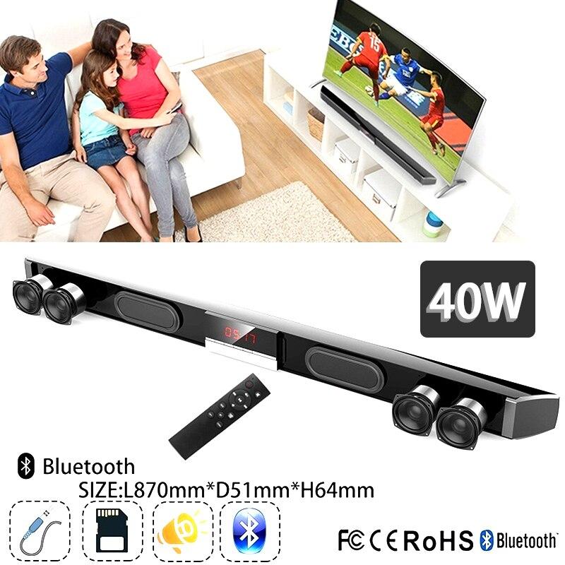 40W mise à niveau SR100 LED barre de son haut-parleur sans fil Bluetooth 5.0 barre de son TV Home cinéma avec système de contrôle à distance Subwoofer