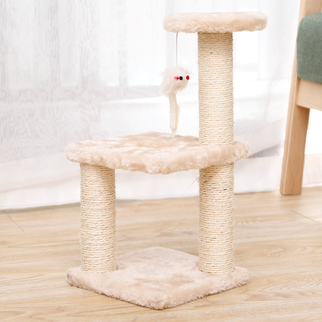Small Cat Tree House Cat Cat Scratchers Climbing Frame Climbing Frame With Hammock Table Pet Cat Toy Kitty Play House For Kitten 3