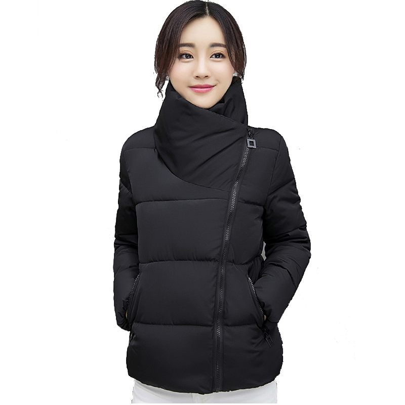 KMVEXO 2019 New Design Women Winter Jacket Short Padded Stand Collar Coat Outwear Chaqueta Mujer Unique Womens Jackets Coats in Jackets from Women 39 s Clothing