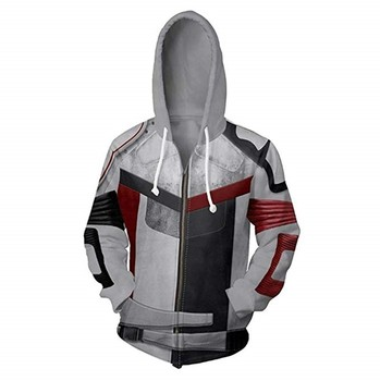 Descent 3 Movie 3Dprinted hooded sports sweater cospaly surrounding jacket Halloween performance