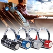 Digit Password Safety Lock Combination Shackle Padlock Zinc Alloy Travel Cabinet U Shape Locker Right Pull Security Safely Code цена 2017