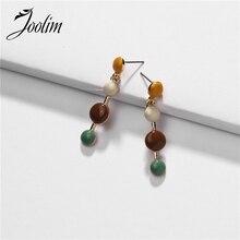 Joolim Colorful Enamel Drop Earring Dangle Wholesale Design Jewelry