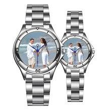 CL055 часы, печать логотипа на циферблате на заказ фото часы с принтом часы лицо наручные часы с принтом индивидуальные уникальные DIY подарок для влюбленных