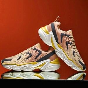 Image 4 - סתיו מעיל חדש למעלה נעליים יומיומיות באיכות גבוהה ונוח מותג גברים קל משקל לנשימה שטוח תחתית סניקרס