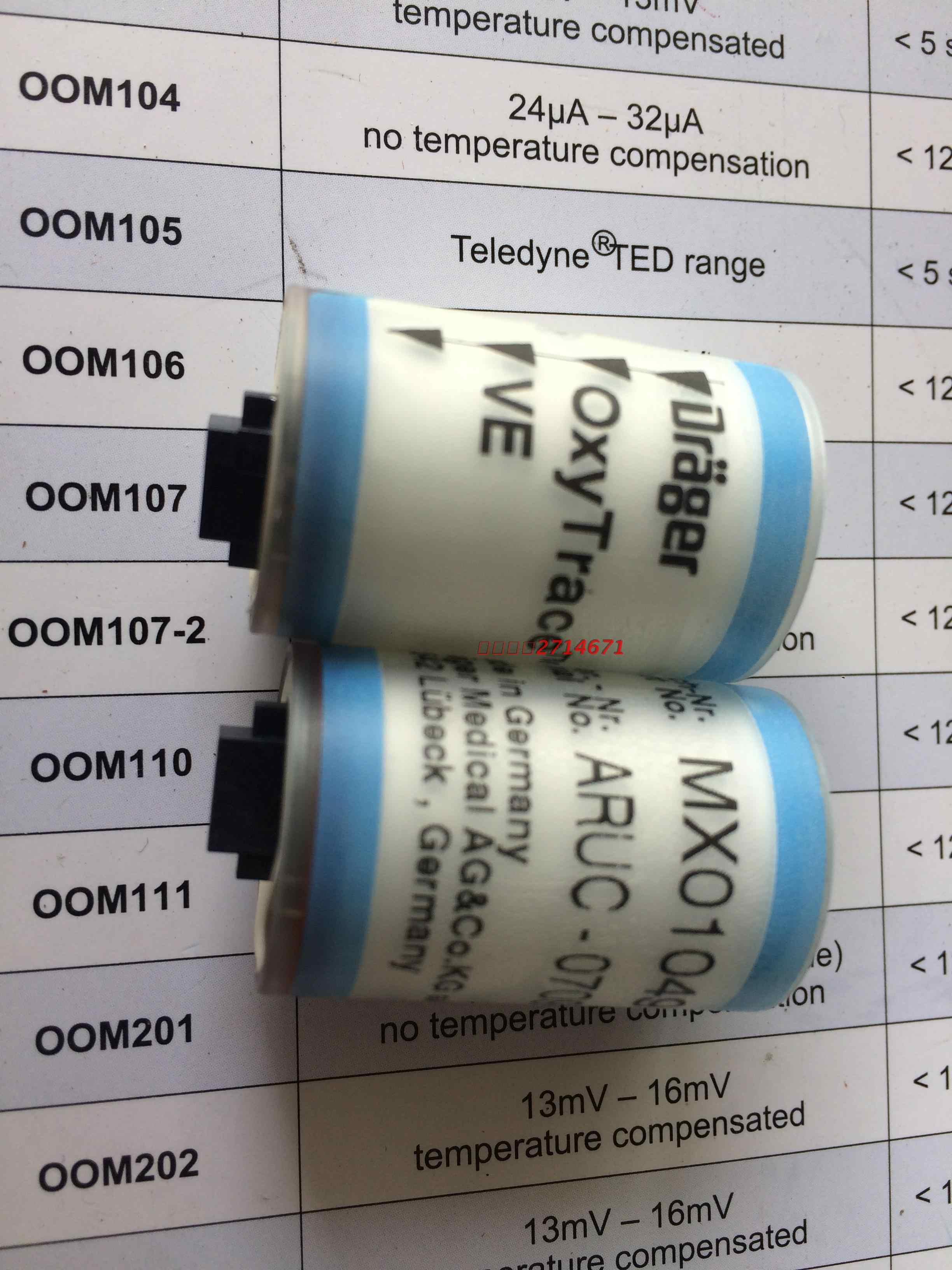 ل دراجر Savina Oxytrace هاء الأكسجين الاستشعار/O2 الاستشعار MX01049