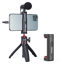 Ulanzi ST 19 Portable Phone Mount Holder Clamp Clip For iPhone 12 Pro Smartphone With Cold Shoe Tripod Mount for Mic Fill Light