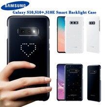 Orijinal Samsung LED kapak Samsung Galaxy S10Plus S10E S10 S10 artı SM-G9730 SM-G9750 G9750 duygusal Led aydınlatma etkisi