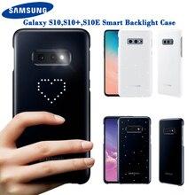 Samsung funda LED Original para Samsung Galaxy S10Plus, S10E, S10, S10 Plus, SM G9730, SM G9750, G9750, efecto de iluminación Led emotivo