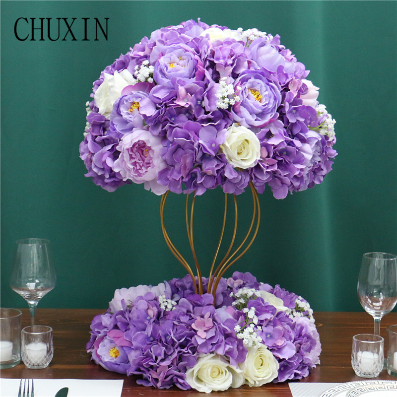 Image 3 - Customized artificial Gypsophila rose hydrangea flower ball home festival decoration wedding dining table road lead wreath 1pcArtificial & Dried Flowers   -