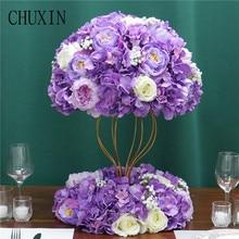 Customized artificial Gypsophila rose hydrangea flower ball home festival decoration wedding dining table road lead wreath 1pc