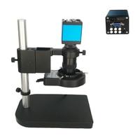 8X 130X Remote control 13MP HDMI VGA Industrial Microscope Digital camera 56 Led ring light for soldering bga pcb phone repair