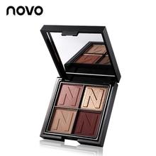 NOVO 4 Color Matte Glitter Eyeshadow Palette Shimmer Makeup Smoky Shining Eye Sh