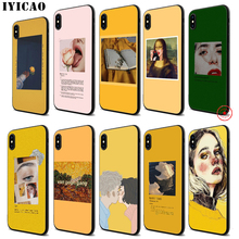 IYICAO Great art aesthetic painting Soft Black Silicone Case for iPhone 11 Pro Xr Xs Max X or 10 8 7 6 6S Plus 5 5S SE
