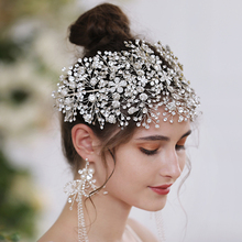 TRiXY H240-S Sparkly Crystal Bridal Crown Bedding Hair Accessories Bridal Crowns Bridal Hair Accessory Handmade women headpiece