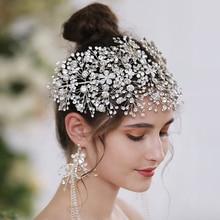 TRiXY H240-S Sparkly Crystal Bridal Crown Bedding Hair Accessories Bridal Crowns Bridal Hair Accessory Handmade women headpiece
