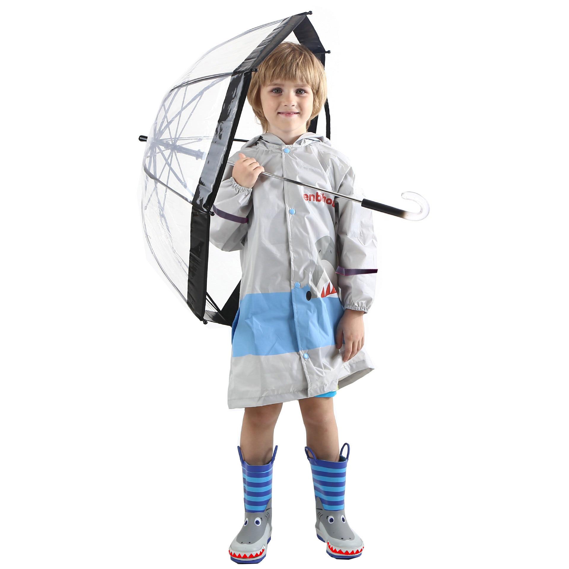 Capa de chuva das crianças poncho bonito