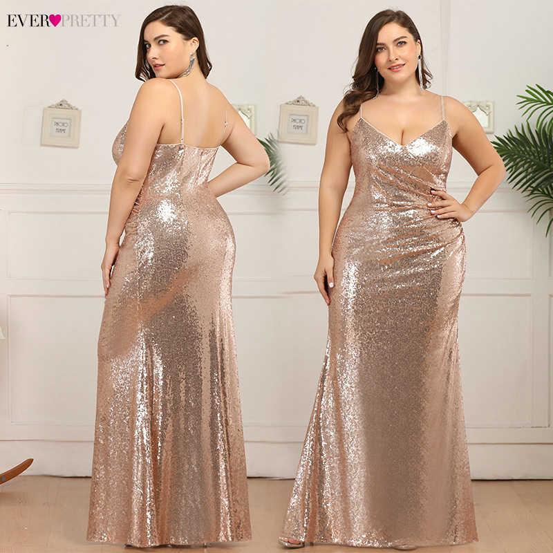 Большие размеры, сексуальные платья для выпускного вечера, Ever Pretty EP07339, глубокий v-образный вырез, расшитое блестками, на тонких бретелях, с рюшами, вечерние, вечернее платье, Vestidos De Gala