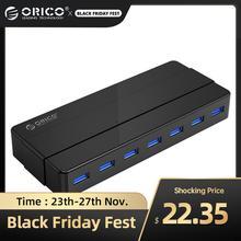 ORICO HUB USB 7/4 Cổng USB3.0 Để Bàn HUB Nguồn 12V Bộ Chia USB Cho Máy Tính Phụ Kiện