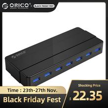 ORICO USB 허브 7/4 포트 USB3.0 데스크탑 허브 12V 전원 어댑터 USB 분배기 컴퓨터 액세서리