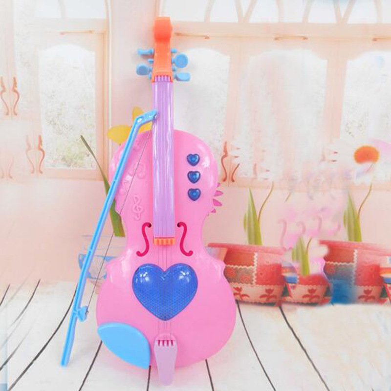 New Style Magic Violin Toy GIRL'S Model Pipa Playing Baby Music ENLIGHTEN Education With Music Light